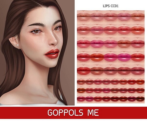 Gold Lips Sims 4 CC