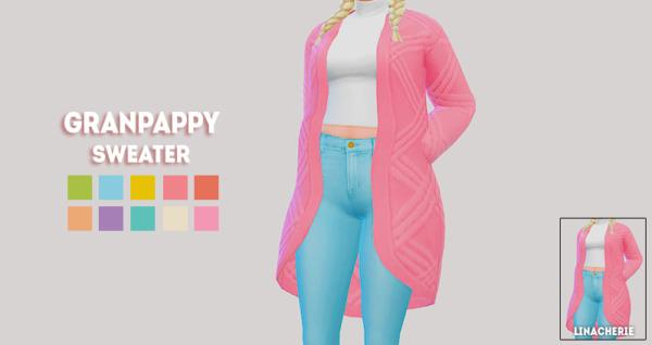 Granpappy sweater Sims 4 CC