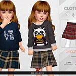 Grid Skirt for Toddler 01 sims 4 cc