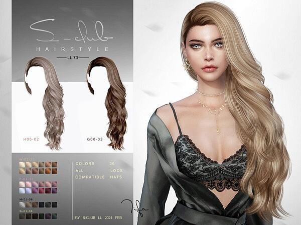 Hair N73 Tifa by S Club from TSR