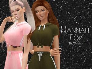 Hannah Top sims 4 cc