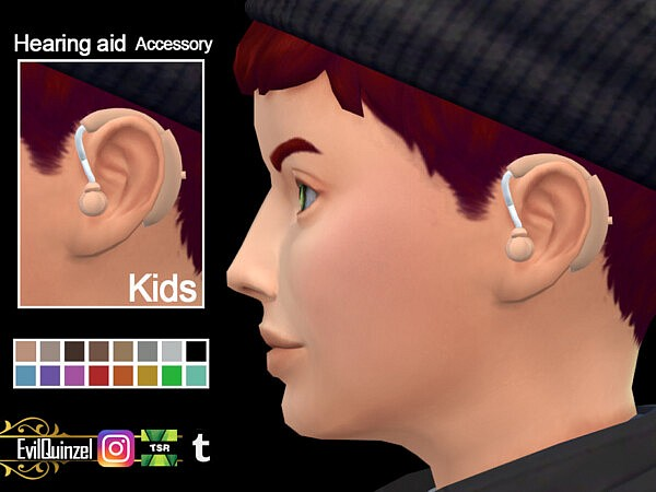 Hearing aid Accessory K by EvilQuinzel from TSR