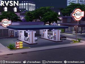 Highway Petrol Gas Station Set