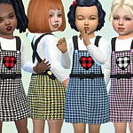 Houndstooth Pinafore by Pelineldis