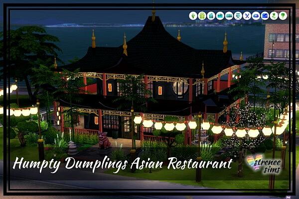Humpty Dumplings Asian Restaurant from Strenee sims