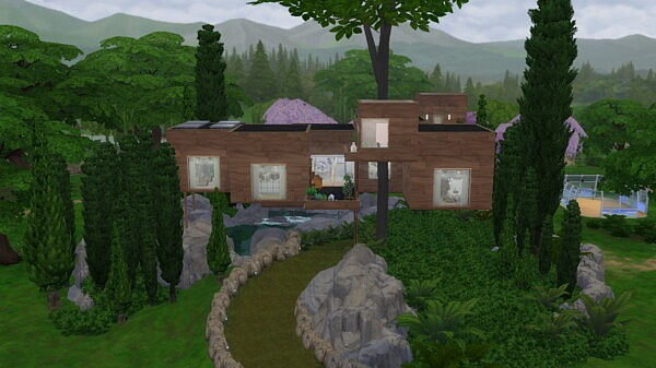 Into the Woods Tree House Sims 4 CC