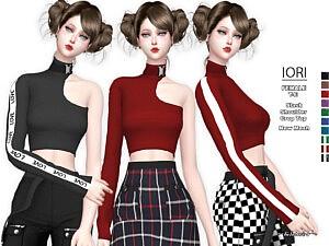 Iori Slash Shoulder Top Sims 4 CC