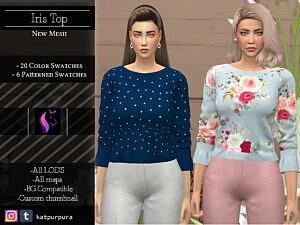 Iris Top sims 4 cc