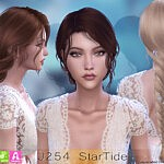 J254 Star Tide Hair sims 4 cc