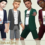 Jacket and Shorts Outfit sims 4 cc