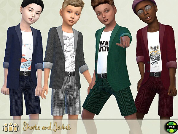 Jacket and Shorts Outfit by Pelineldis from TSR