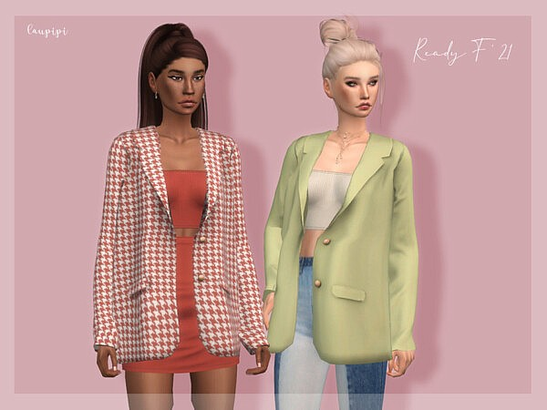 Jacket with a top sims 4 cc