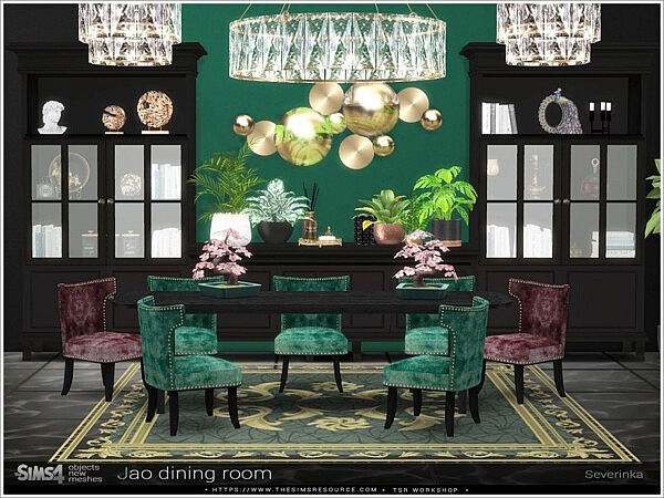 Jao dining room Sims 4 CC