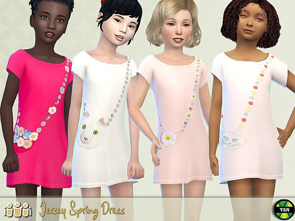 Jersey Spring Dress sims 4 cc