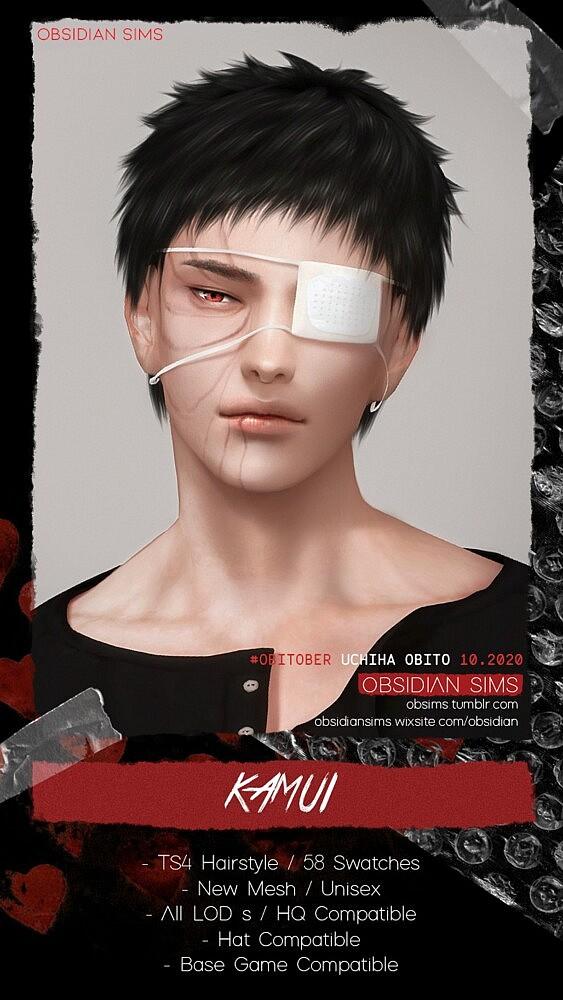 Kamui Sims 4 Hairstyle