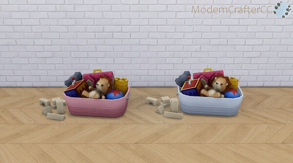 Kids' Toy Tub Recolored from Modern Crafter