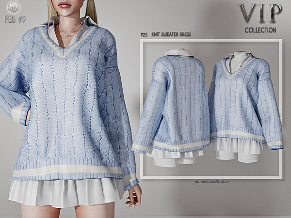 Knit Sweater Dress by busra tr from TSR
