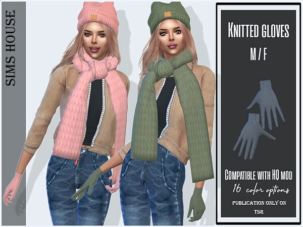 Knitted gloves by Sims House
