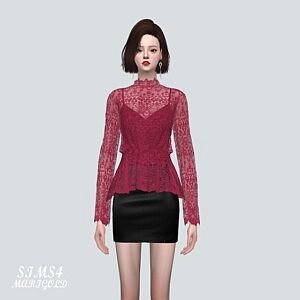 Lace Blouse V2 Sims 4 CC