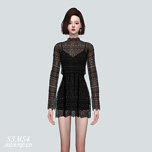 Lace Mini Dress V2 sims 4 cc