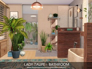 Lady Taupe Bathroom sims 4 cc