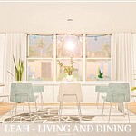 Leah Living and Dining Sims 4 CC