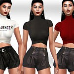 Leather Shorts sims 4 cc