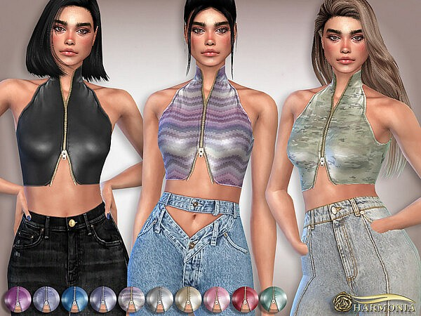 Leather Turtleneck Tank Top by Harmonia from TSR