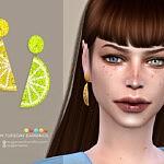 Lemon Tuesday earrings sims 4 cc