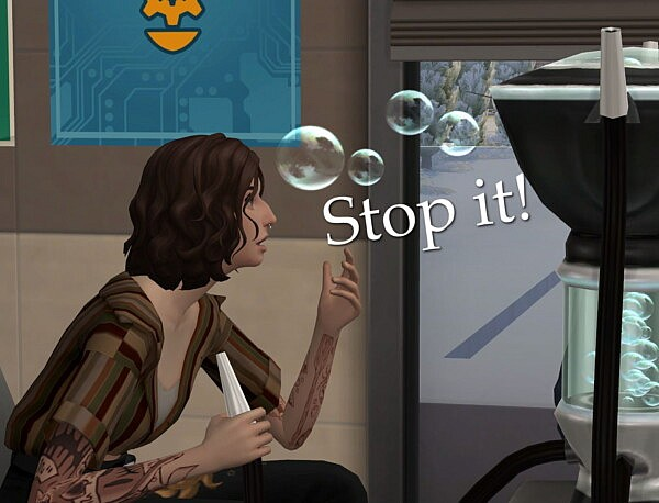 Less Bubble Blower Coughing by misophorism from Mod The Sims