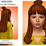 Liliane Hair Children sims 4 cc