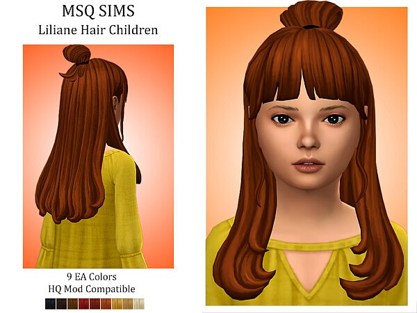 Liliane Hair Children sims 4 cc