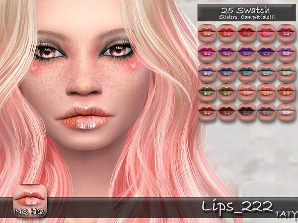 Lips 222 Sims 4 CC