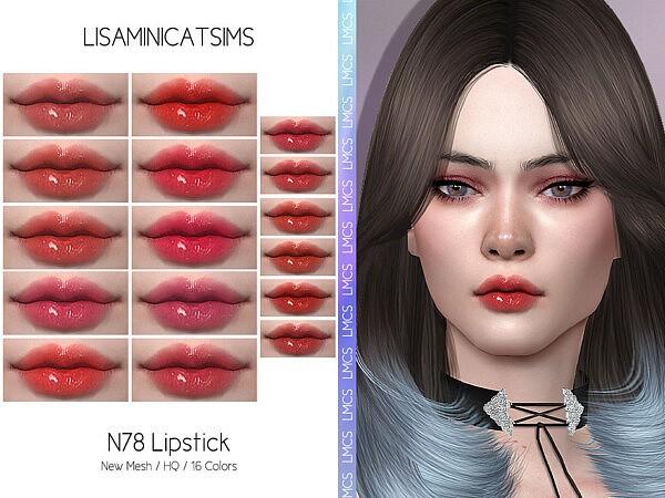 Lipstick N78 by Lisaminicatsims