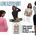 Long Sleeved Dress Sims 4 CC
