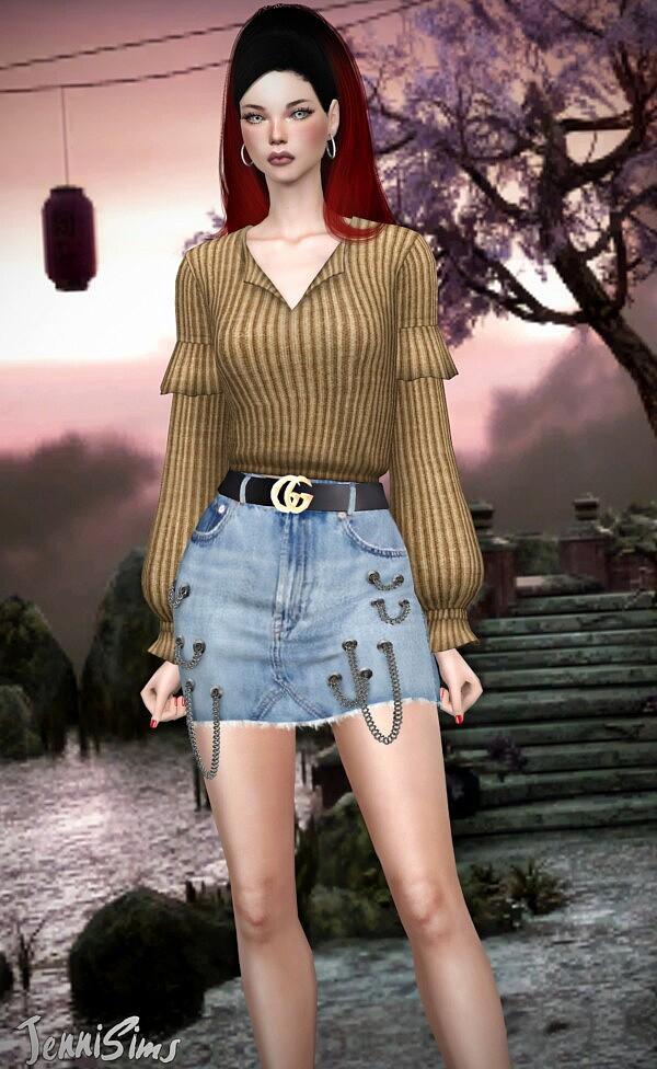 Long Sleeves Top Sims 4 CC