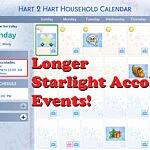 Longer Starlight Accolades Events Sims 4 CC
