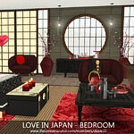 Love in Japan Sims 4 CC Bedroom