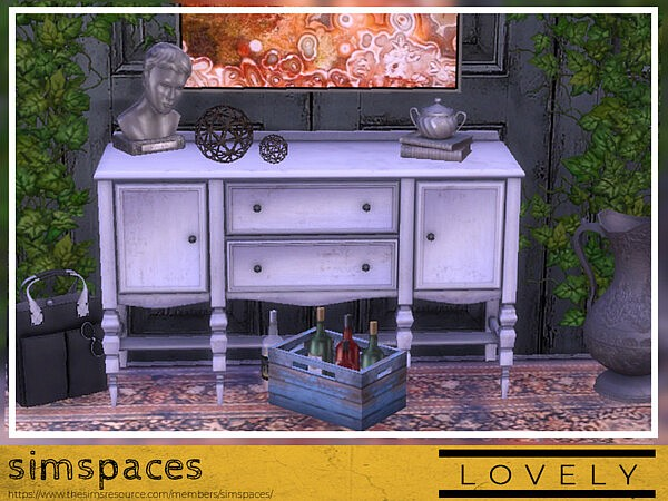 Lovely Sideboard Sims 4 CC