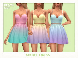 Mable Dress by Black Lily Sims 4 CC