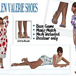 Madlens Valerie Shoes sims 4 cc