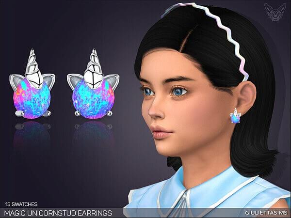 Magic Unicorn Stud Earrings G by Feyona from TSR
