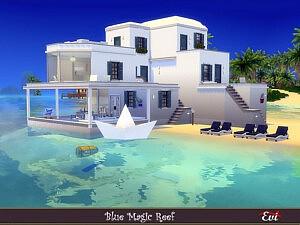 Magic blue reef house sims 4 cc
