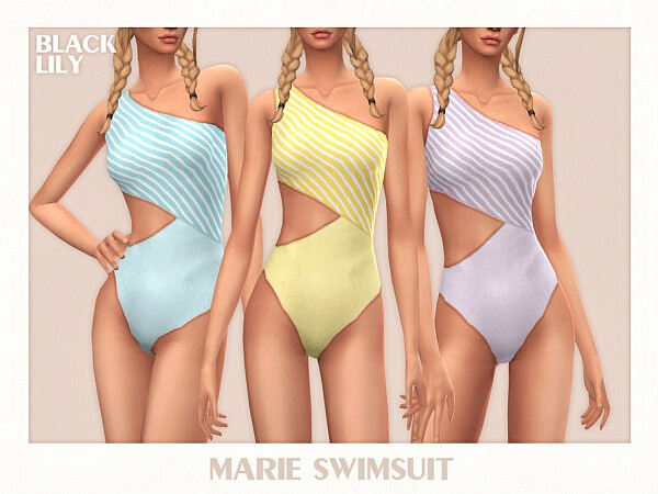 Marie Swimsuit by Black Lily from TSR