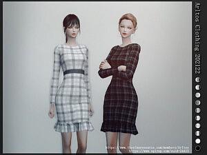 Medium Dress With Ruffle Sims 4 CC