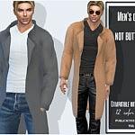 Mens coat not buttoned
