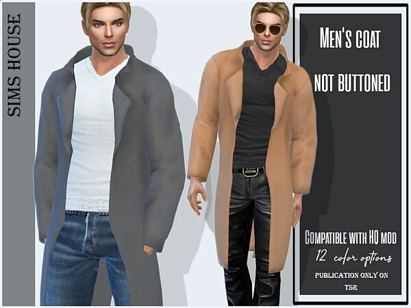 Mens coat not buttoned by Sims House from TSR
