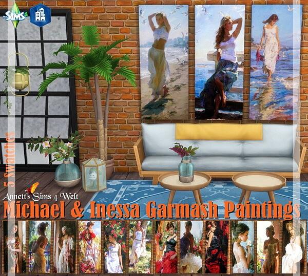 Michael and Inessa Garmash Paintings sims 4 cc