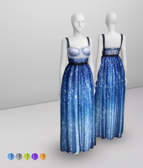 Milky Way At Night Dress sims 4 cc