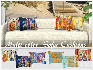 Multi color Sofa Cushions Sims 4 CC